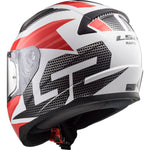 Casco Integral LS2 FF353 Rapid Grid Carbón / Blanco / Rojo
