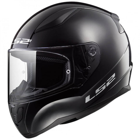 Casco Integral LS2 FF353 Rapid Solid Negro Brillante