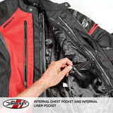 Chamarra Joe Rocket Atomic 5.0 Rojo Impermeable