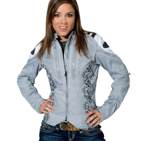 Chamarra Impermeable Joe Rocket Atomic 4.0 Gris de Mujer