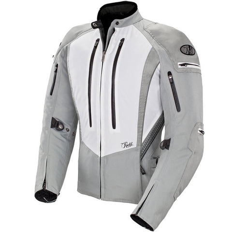 Chamarra Mujer Joe Rocket Protecciones Ladies Atomic 5.0 Gris Impermeable