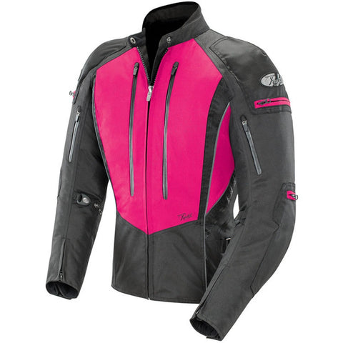Chamarra Mujer Joe Rocket Protecciones Ladies Atomic 5.0 Rosa Impermeable