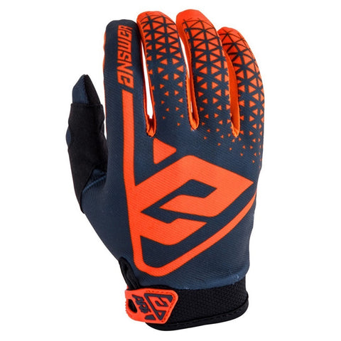 Guantes Answer AR1 Moto Cross Naranja / Gris