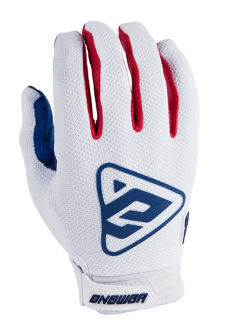 Guantes Answer Ar3 Moto Cross Blanco / Rojo