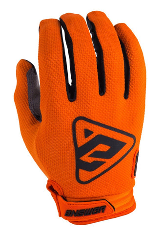 Guantes Answer Ar3 Moto Cross Naranja / Negro