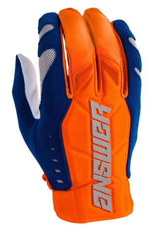 Guantes Answer AR4 Moto Cross Naranja / Azul