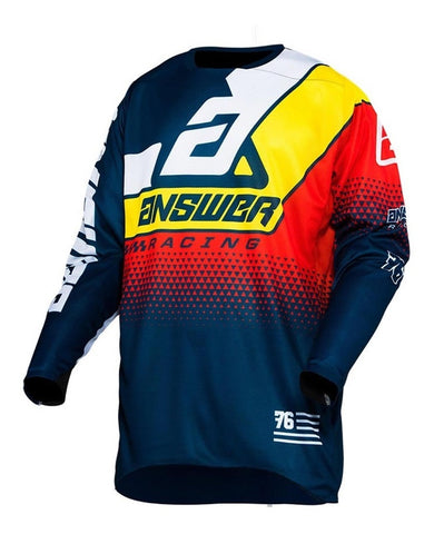 Jersey Answer Elite Korza Midnight / White Moto Cross Mx