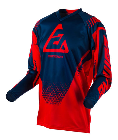 Jersey Answer Youth Syncron Drift Rojo Midnight Motocross Niños