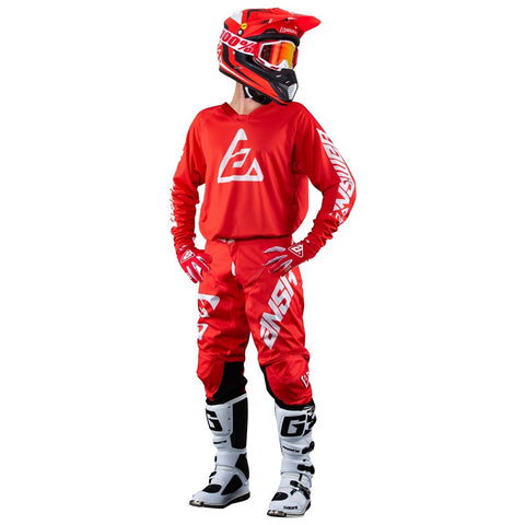 Kit de Jersey Y Pantalon Answer A18 Elite Rojo