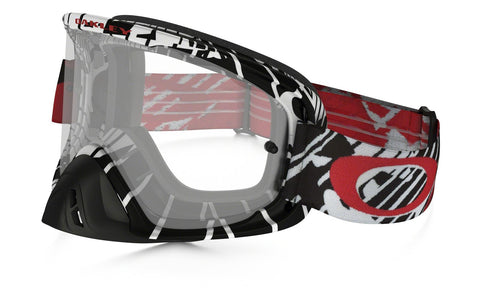 Goggles Oakley O Frame 2.0 MX Skull Rushmore - Red Black / Clear OO7068-11