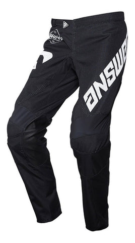 Pantalón Answer Arkon Black / White Moto Cross Mx