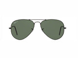 Lentes Ray-Ban RB 3025 002/58 58 Aviator Black/Green Classic G-15 Polarized