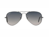 Lentes Ray-Ban RB 3025 004/78 58 Aviator Gunmetal / Blue Gradient Polarized