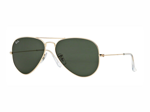 Lentes Ray-Ban RB 3025 L0205 58 Aviator Gold / Green Classic G-15