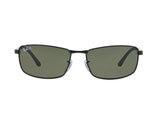Lentes Ray-Ban RB 3498 002/9A 64 Black / Green Classic G-15 Polarized