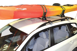Malone SaddleUp Pro Kayak Carrier with Tie-Downs - Saddle Style - Rear Loading - Jawz Hardware