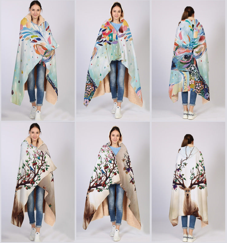 Animal blankets and hooded cloaks