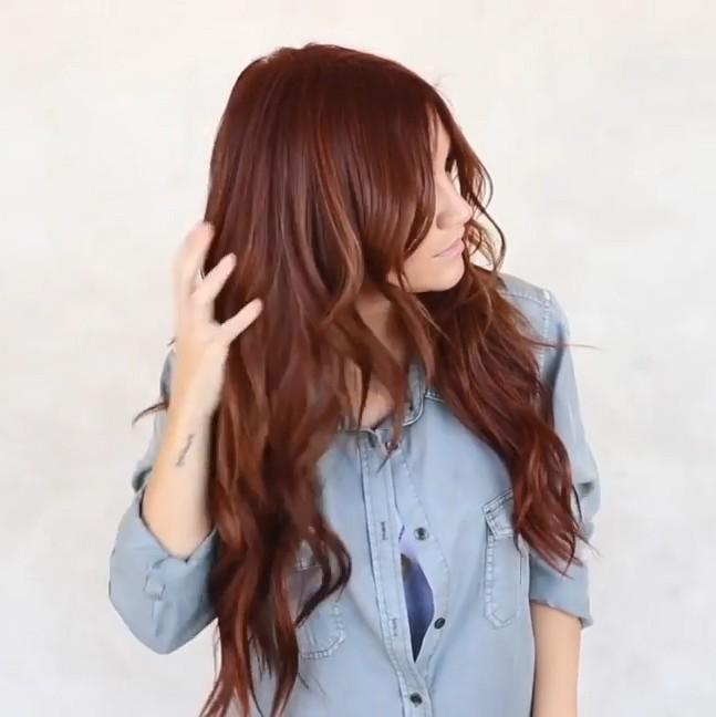 Kimberly Curly Red Wig