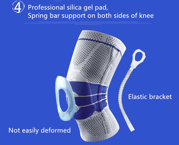 Knee Brace Support  Elastic & Adjustable Kneepad Silicon Padded Bracket