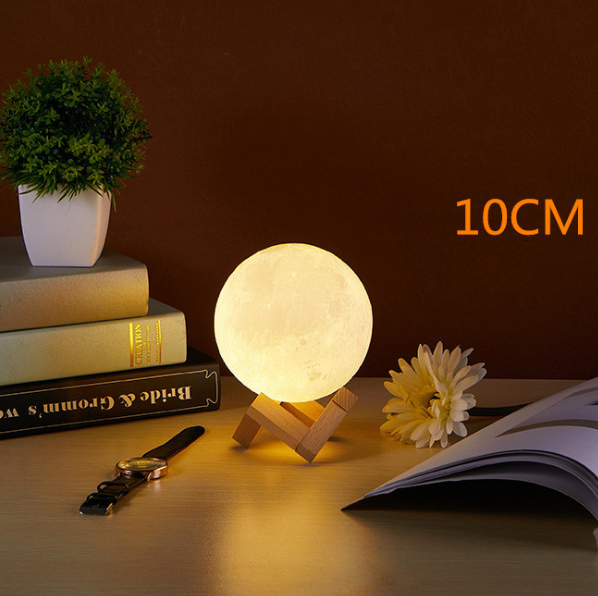 moon lamp 3D print night light Rechargeable
