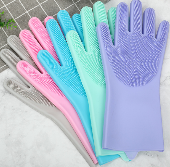 NEW SILICONE DISH WASHING GLOVES