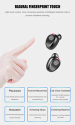 Wireless Earphone Bluetooth V5.0 F9 TWS Wireless Bluetooth Headphone LED