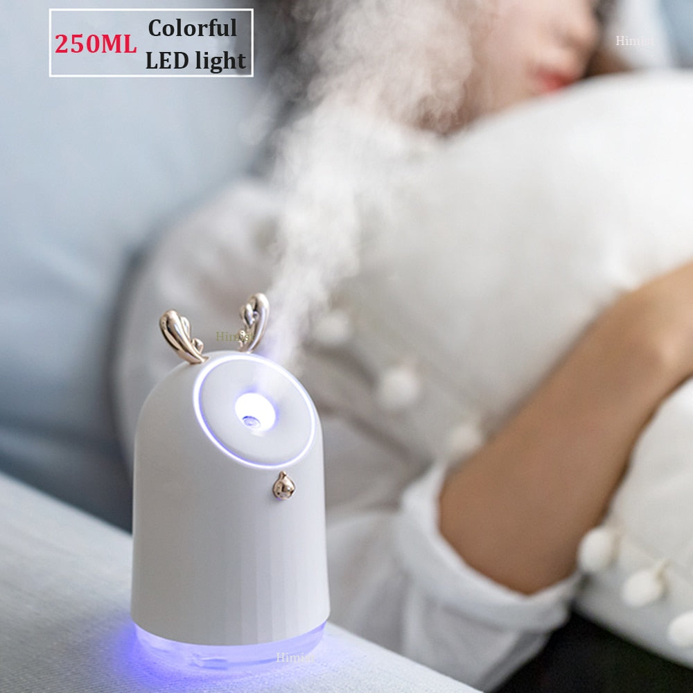 Wireless cute antler aromatherapy machine diffuser