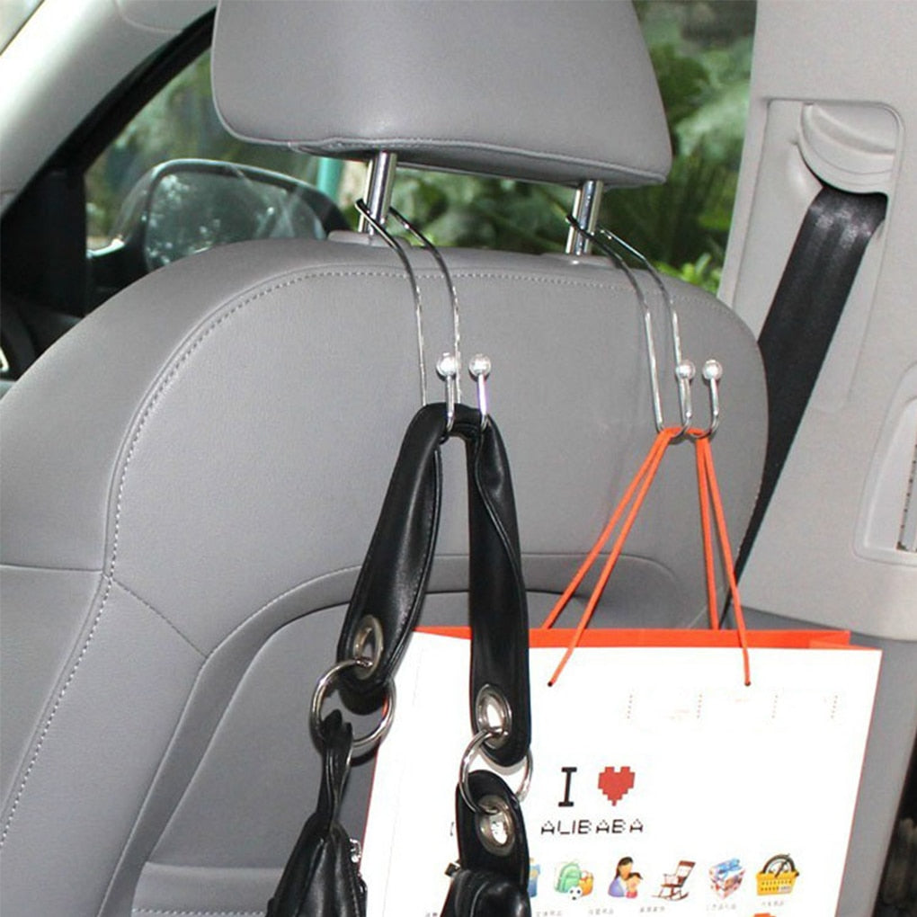 1 Pair Car Seat Metal Hooks