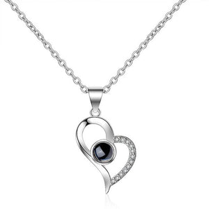 Fashion Heart LOVE Pendant Necklace