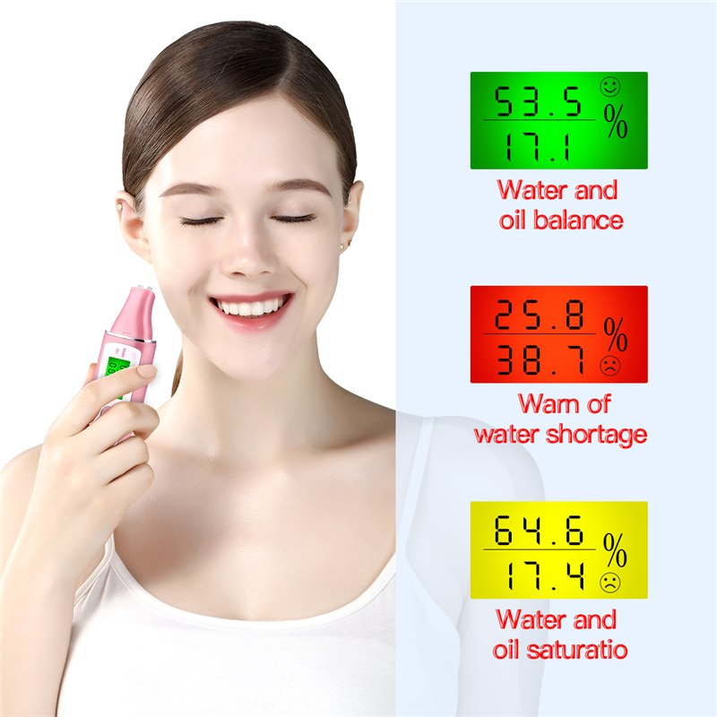 Skin Care Tool Facial Moisture Tester With LCD