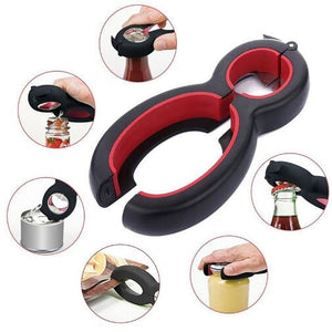 6 in 1 Multi Function Twist Bottle Opener