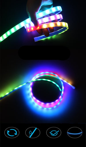 Car colorful RGB network lights
