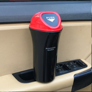 Car hanging trash can with clip
