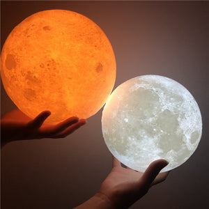 3D Print Colorful Change Moon Globe Lamp