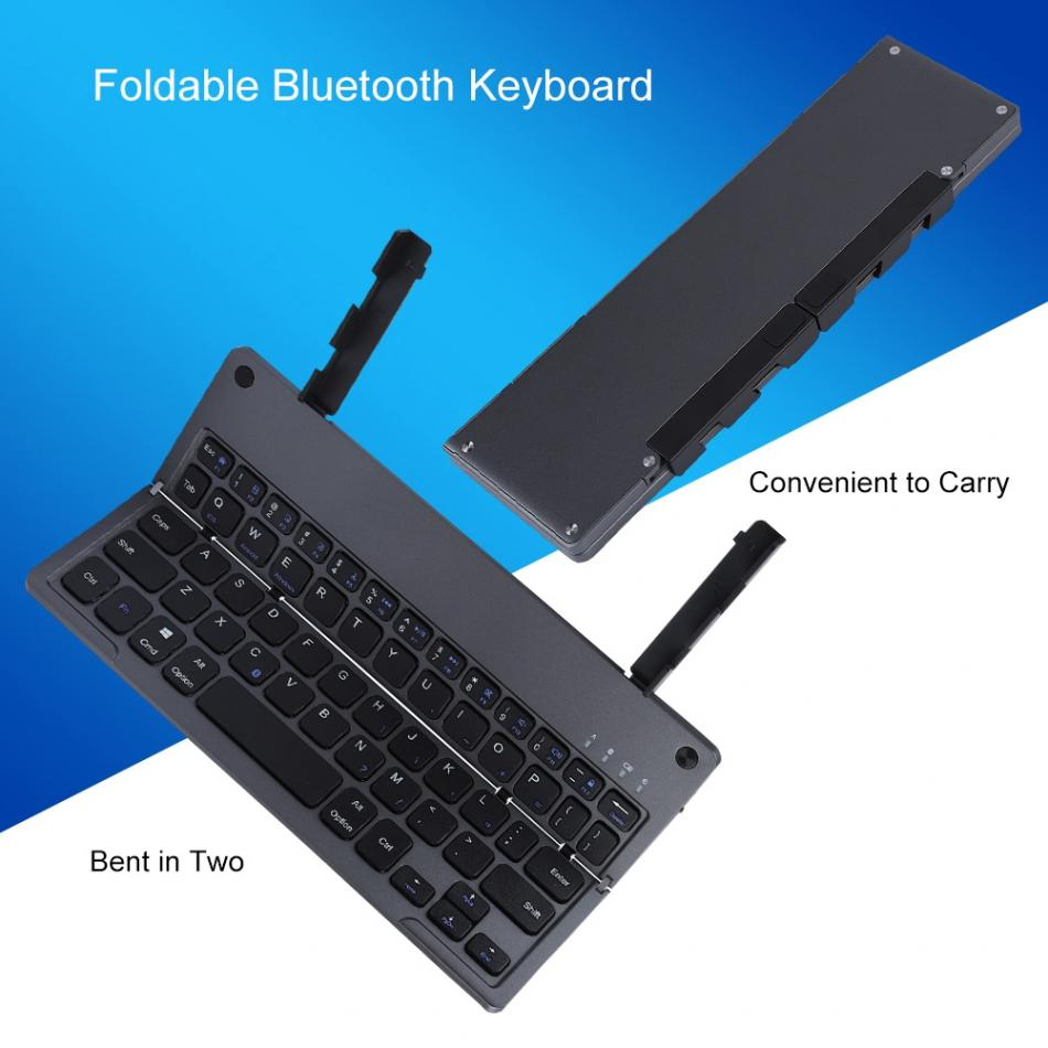 60-key Foldable Bluetooth Keyboard