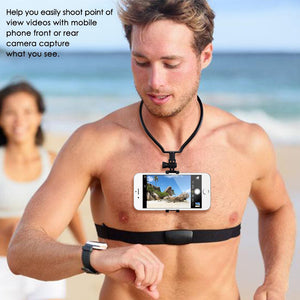 WEARABLE NECK SMARTPHONE HOLDER