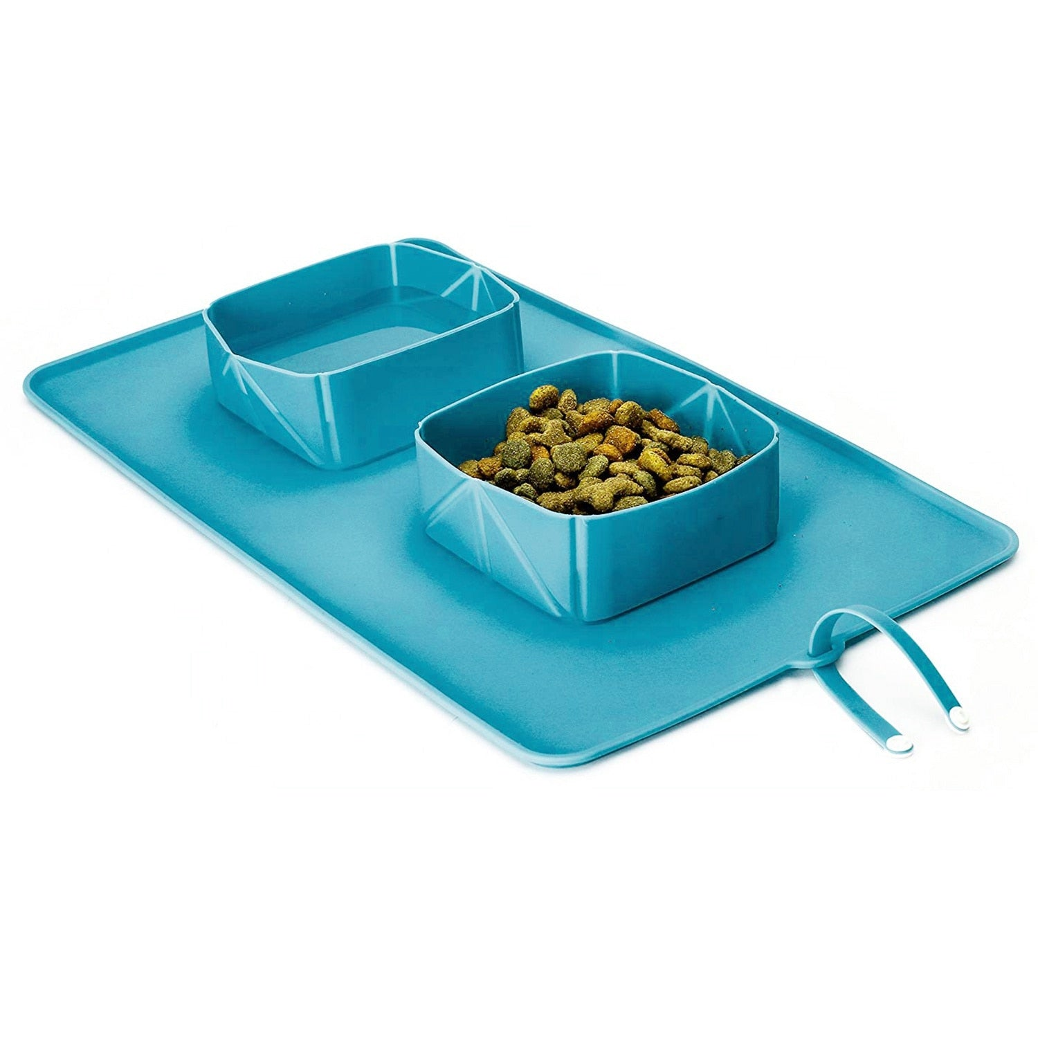 Portable Double Roll Up Pet Bowls