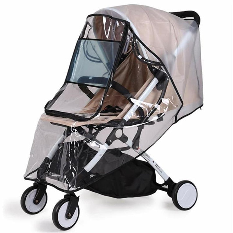 Lightweight folding stroller Rain cover Non-toxic and odorless Baby stroller windproof rain cover