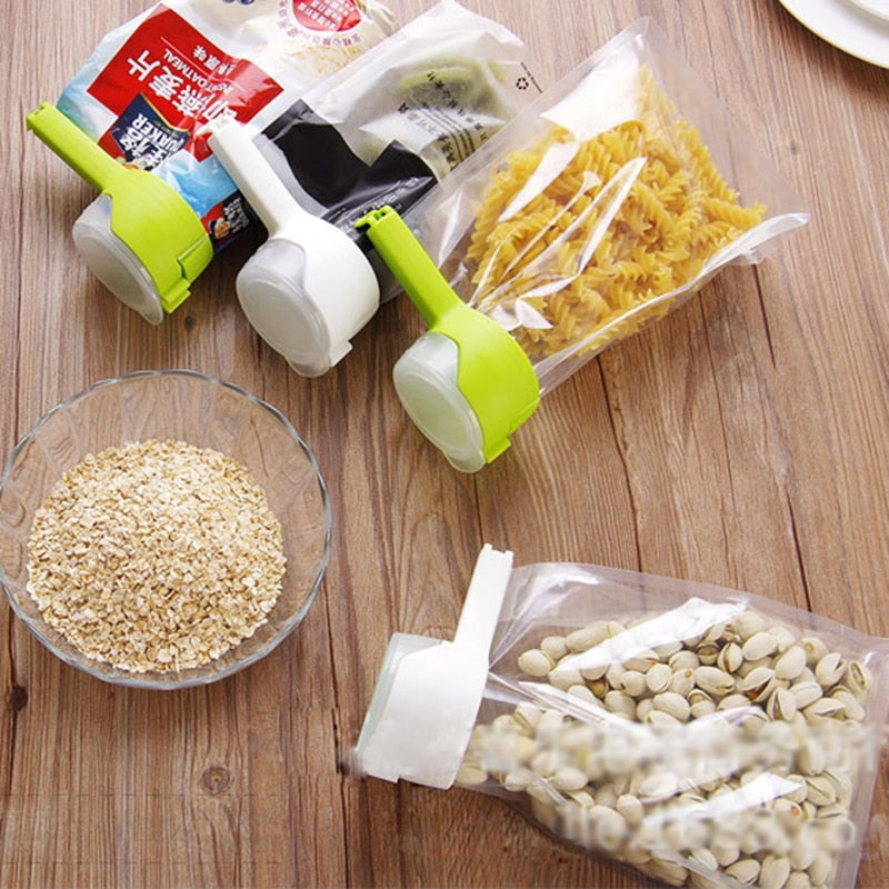 Seal Pour Food Storage Bag Clip