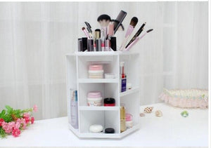 360 degree rotatable desktop cosmetics storage box