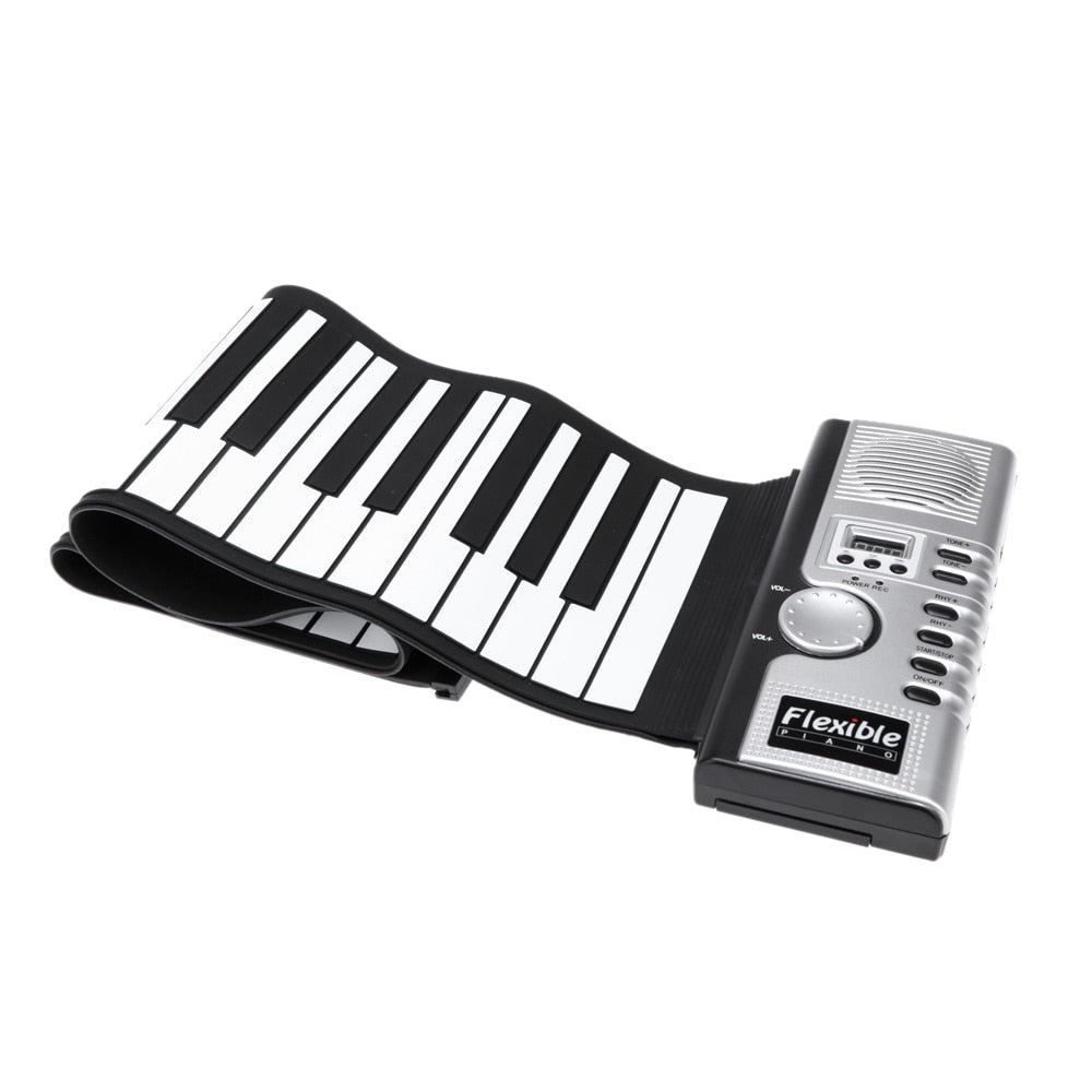 61 Keys 128 Tones Roll Up Electronic Portable Piano