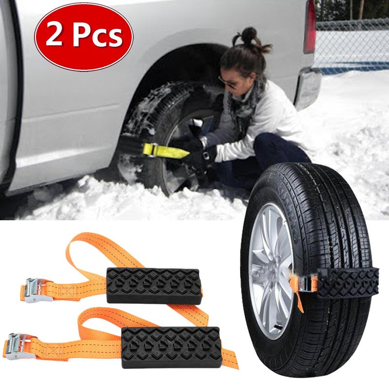 2PCS Car Tire Emergency Anti Skid Straps