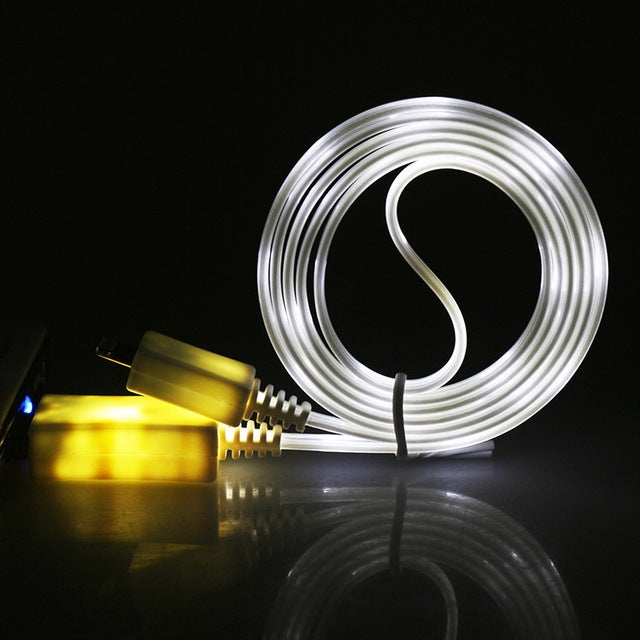 LED Light Charging Cable In The Dark