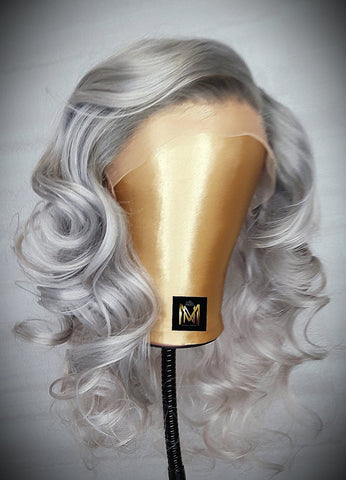 Platinum long lace wig