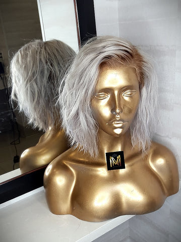 Platinum Bob dark roots