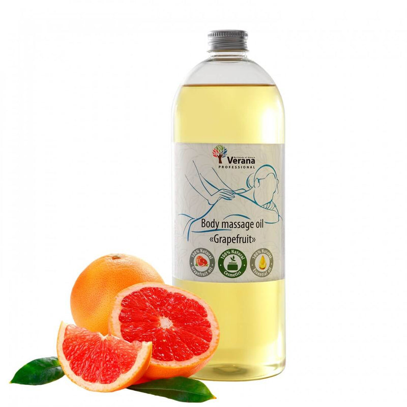 Verana Massageolie Grapefruit 1L-DeMassageWinkel