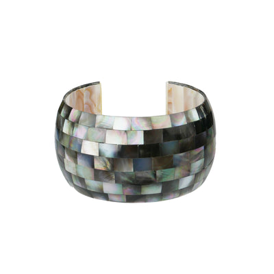 Mother of Pearl Grey Cuff - Bohology