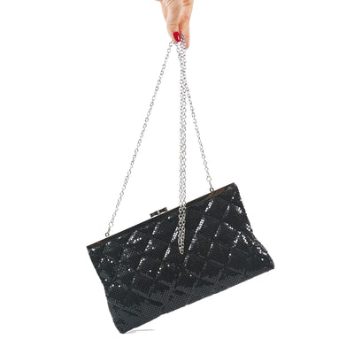 Black Metal Mesh Sling Bag - Bohology