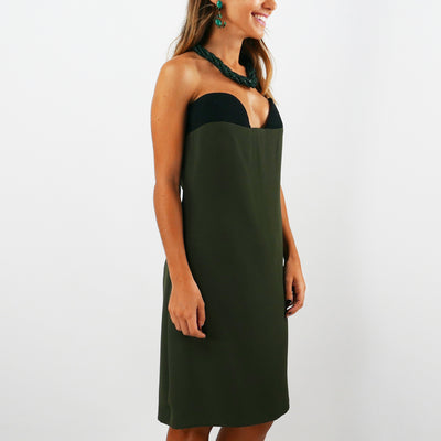 Army Strapless Dress (size 40/S) - Bohology