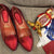Handmade Red Loafers